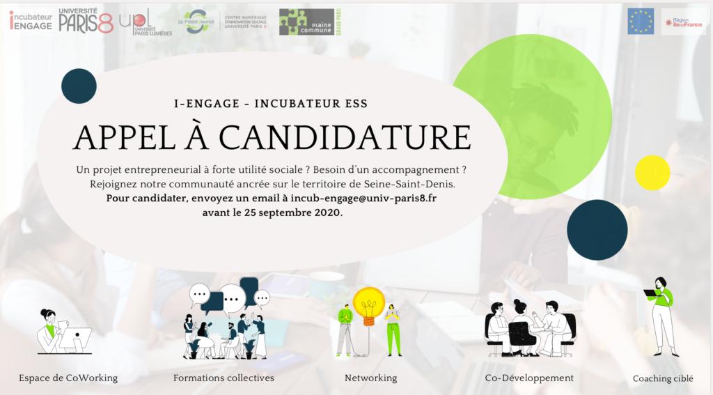 I - Engage Incubateur ESS Appel à candidature